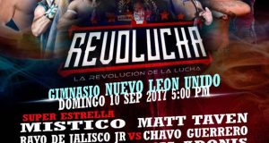 Cartel Revo Lucha – Gym Nuevo Leon Independiente – Domingo 10 Sept. 2017